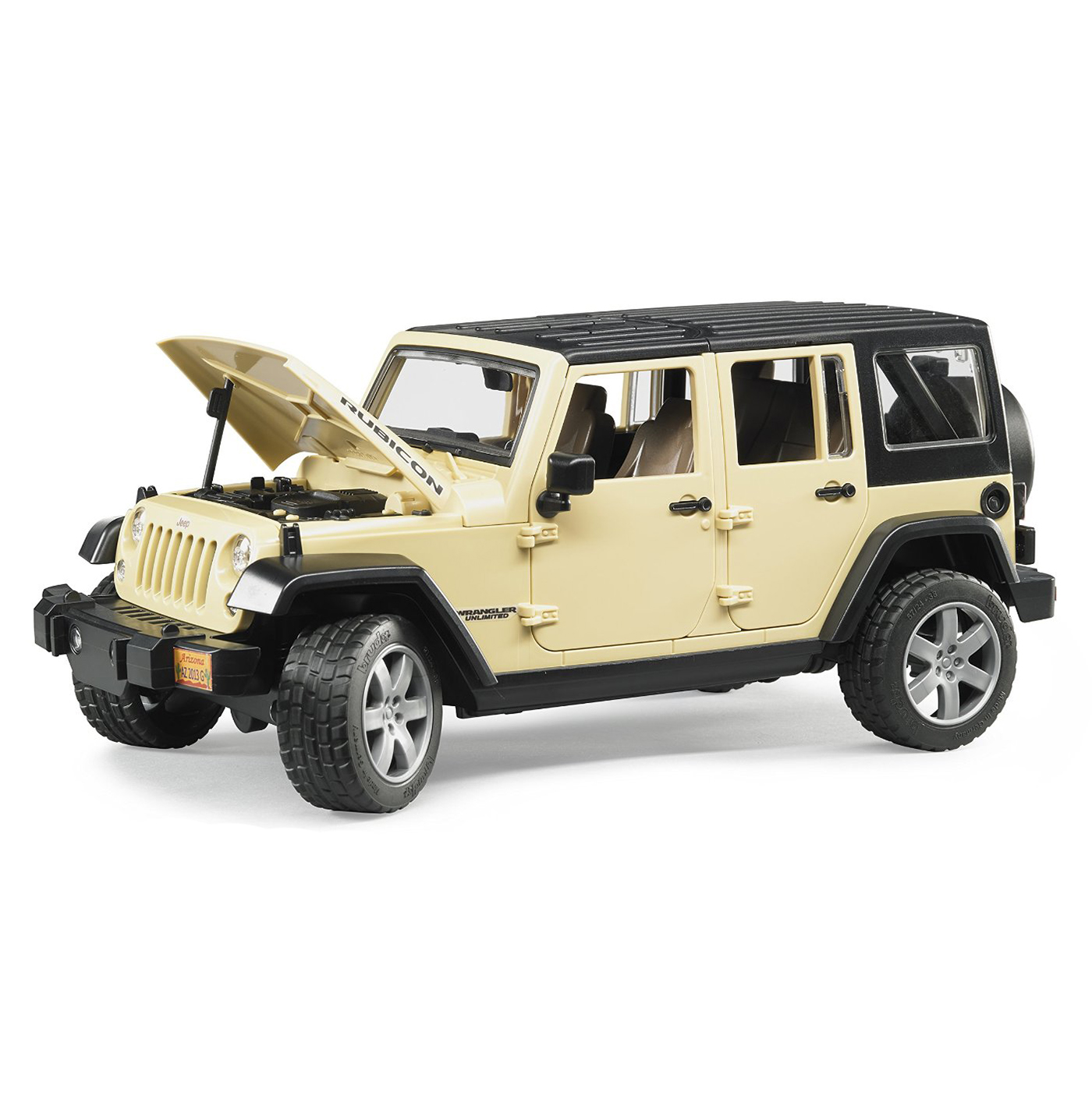 Bruder Toys Jeep Wrangler Unlimited Rubicon with ...