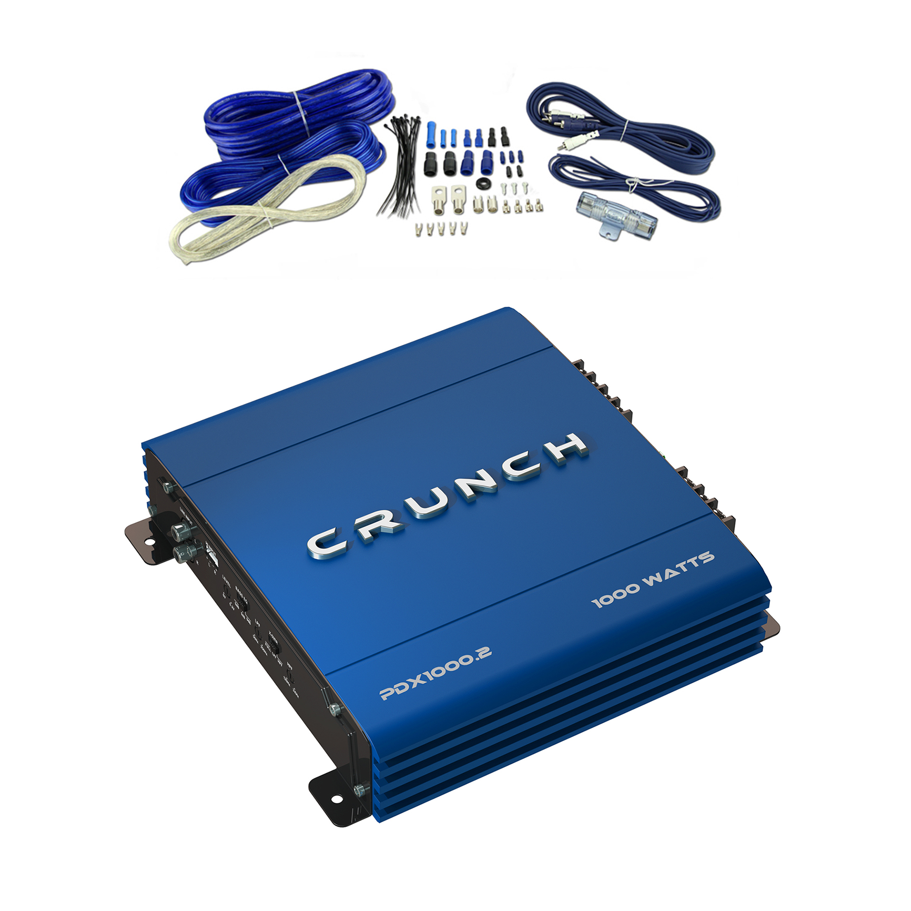 crunch powerdrivex 1000w 2 channel blue a/b car amplifier ... crunch amp wiring diagram 2001 cadillac sts bose amp wiring diagram