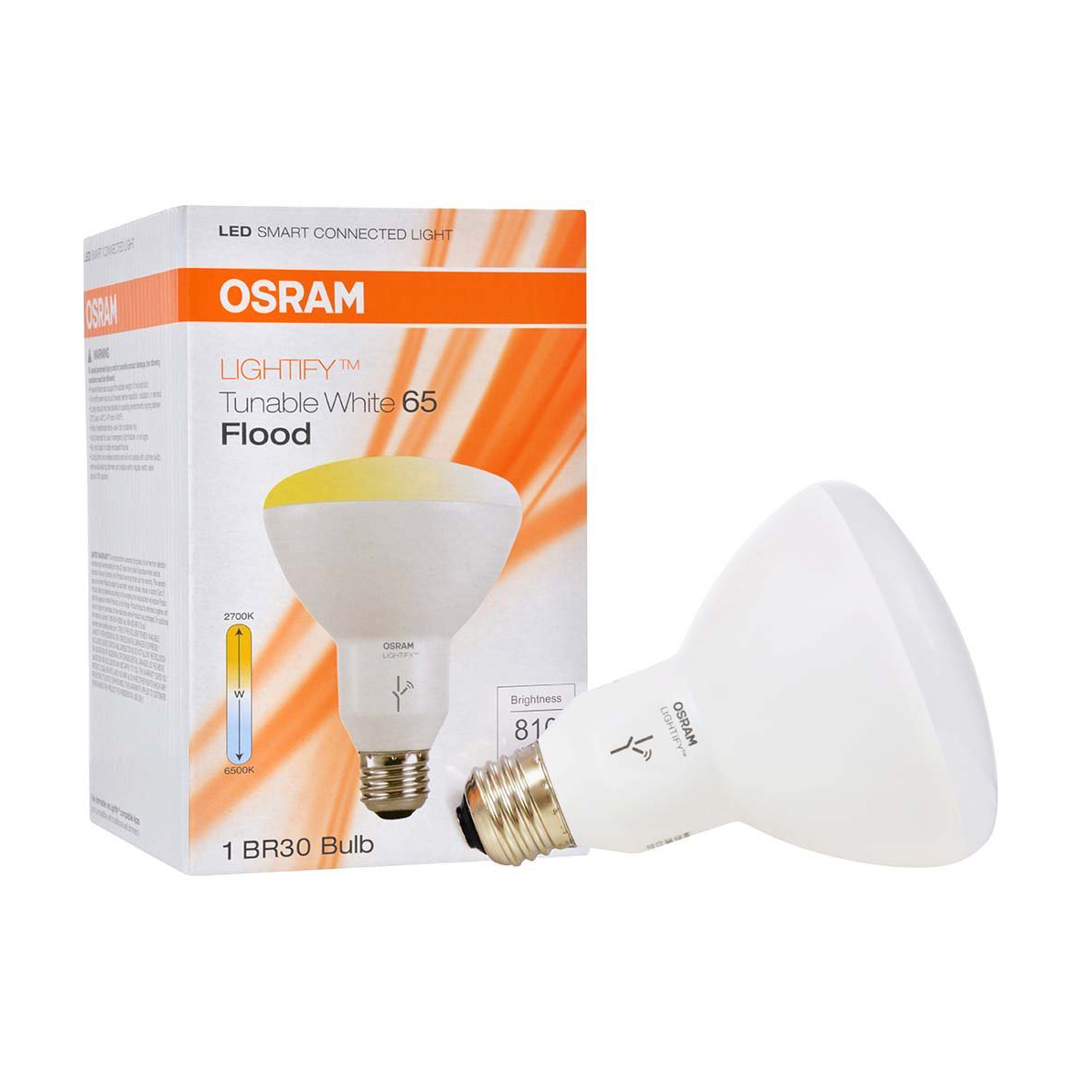 sylvania osram lightify smart home 65w br30 white led. Black Bedroom Furniture Sets. Home Design Ideas