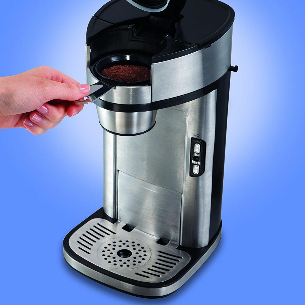 Coffee Maker With Metal Parts : Hamilton Beach The Scoop Single Serve Coffee Maker, Stainless Steel 49981 eBay
