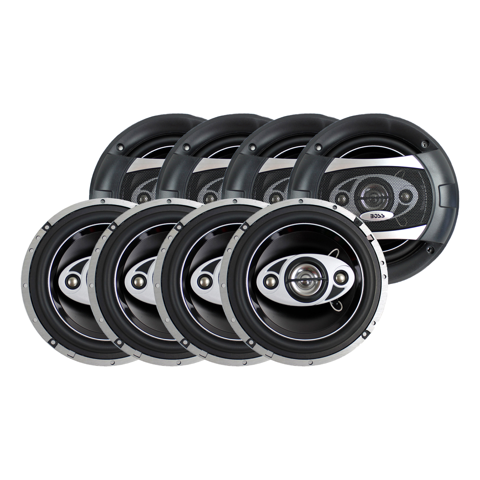 """Boss Audio 6.5"""" 4-Way 400W Car Coaxial Speakers Stereo"""