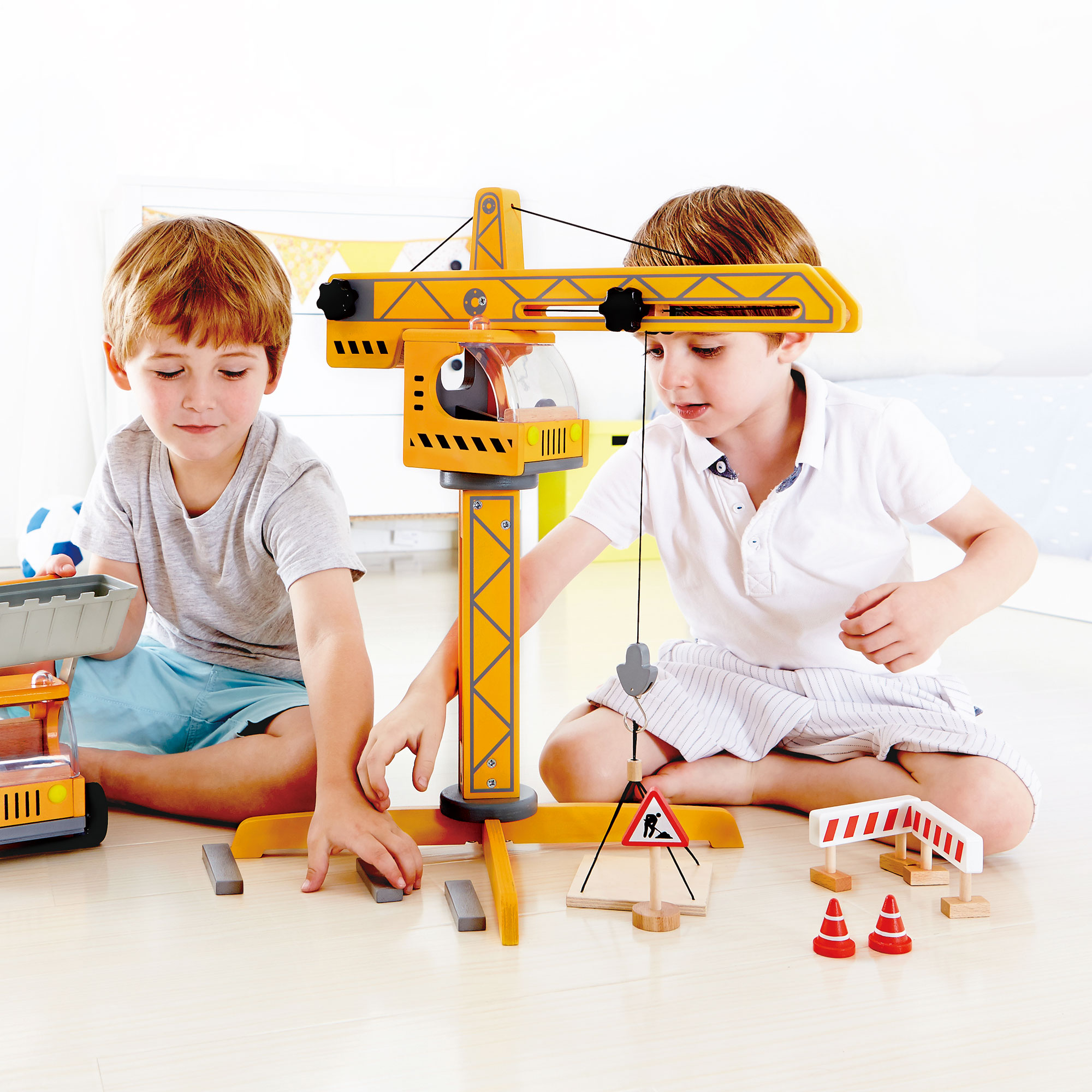 Construction Site Toys For Boys : Hape playscapes toddler kids wooden toy construction site