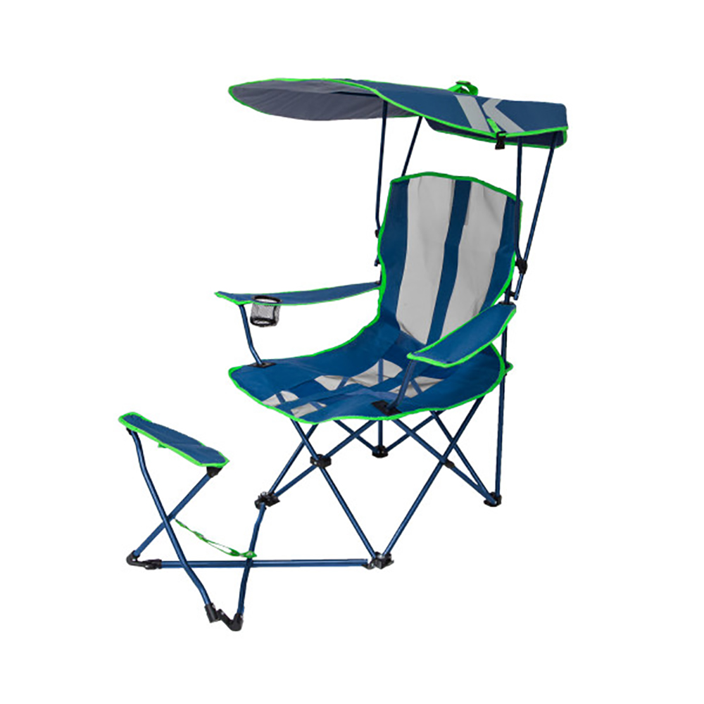 Tremendous Details About Kelsyus Original Canopy Camping Chair With Ottoman Navy Blue And Lime Green Ocoug Best Dining Table And Chair Ideas Images Ocougorg
