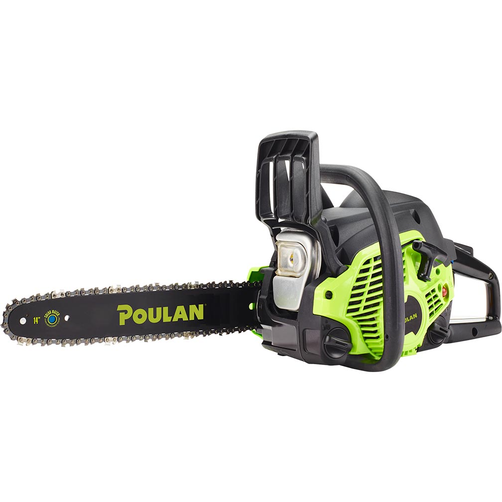 Poulan 14 steel bar 33cc gas chain saw 2 cycle pl3314 certified poulan 14 steel bar 33cc gas chain saw 2 cycle pl3314 certified refurbished greentooth