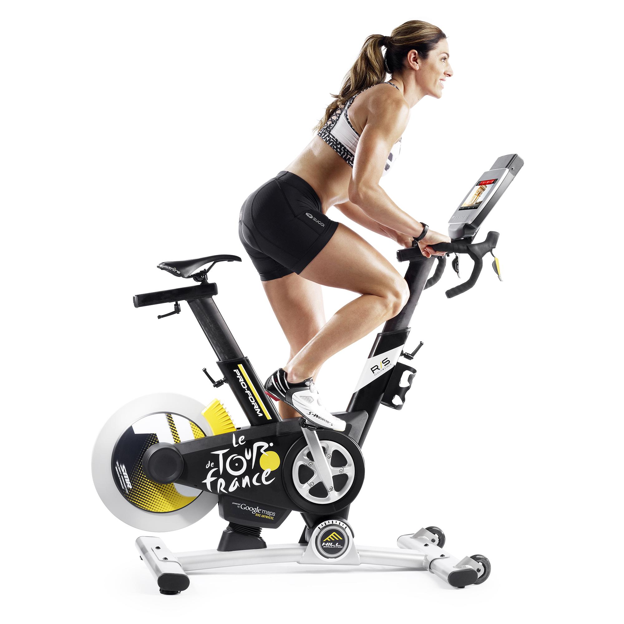 proform le tour de france pro 5 0 home exercise bike w touchscreen bluetooth ebay. Black Bedroom Furniture Sets. Home Design Ideas