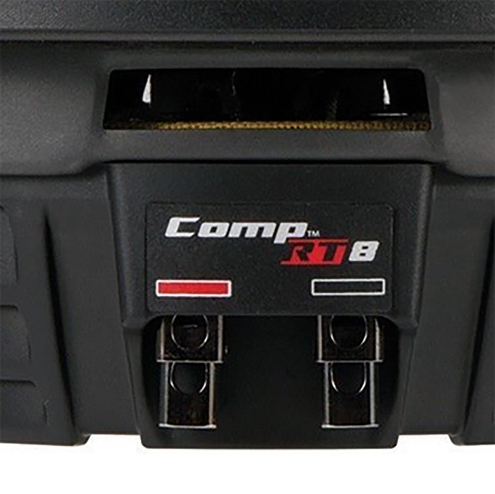 Kicker 8 Inch Dual 600 Watt CompRT 2 Ohm Shallow Slim Car Subwoofer43CWRT82