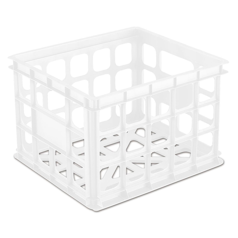 Sterilite Plastic Storage Box Crate Container For Home Or