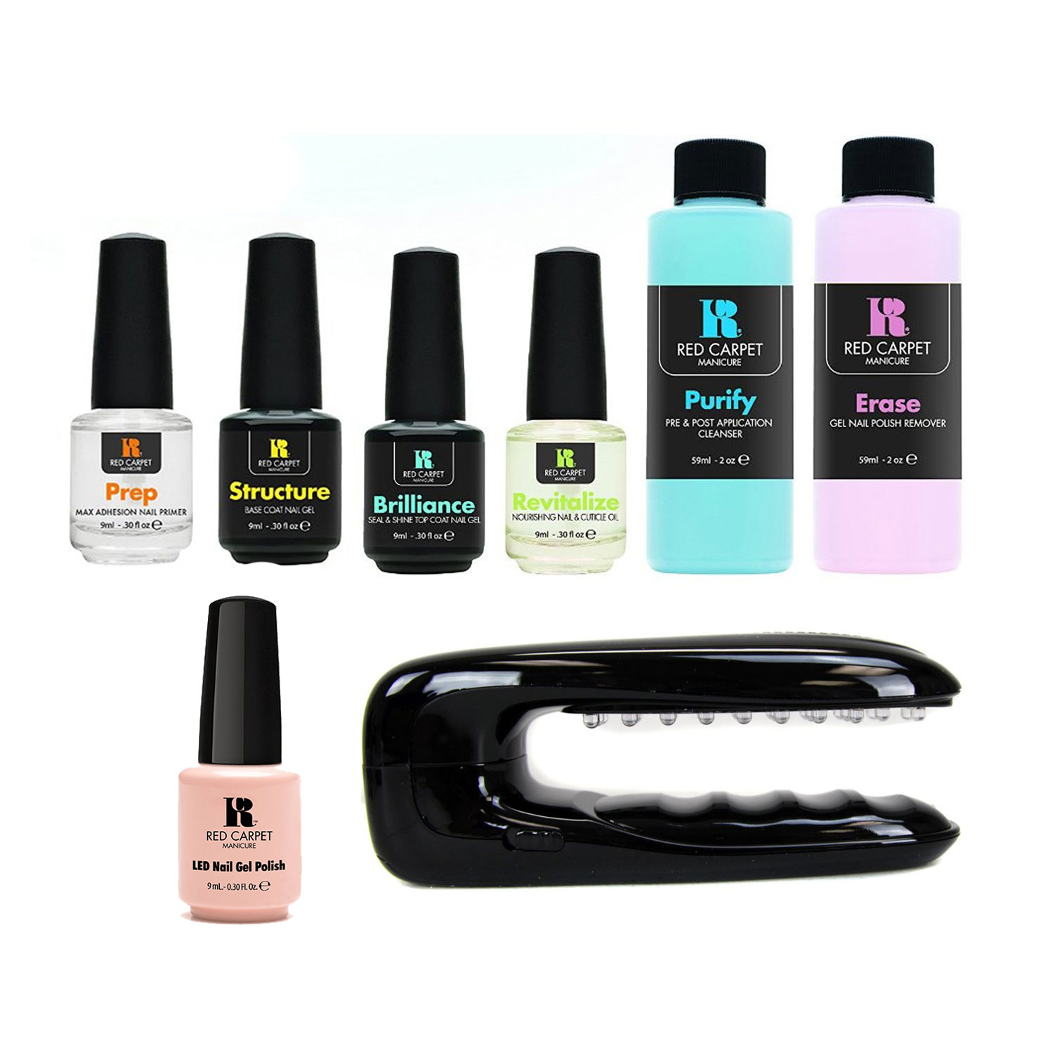 Nail Polish Package: Red Carpet Manicure Portable LED Package Soak Off Gel Nail
