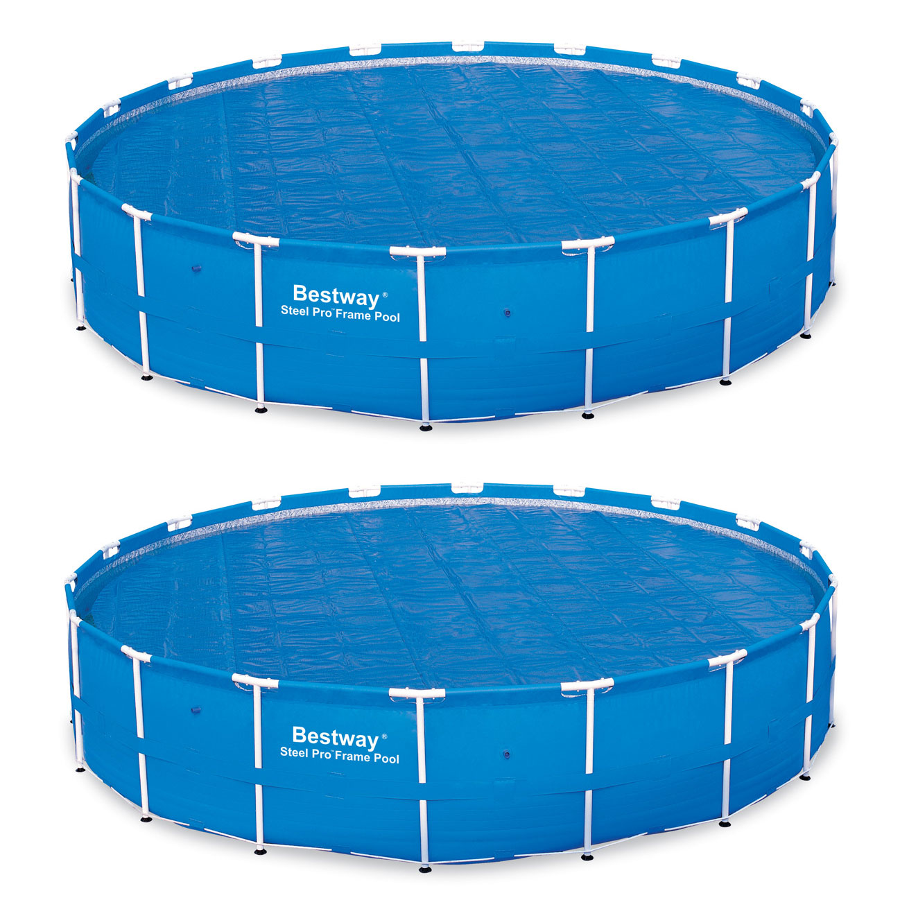 Details about Bestway 18 Foot Round Above Ground Swimming Pool Solar Heat  Cover (2 Pack)