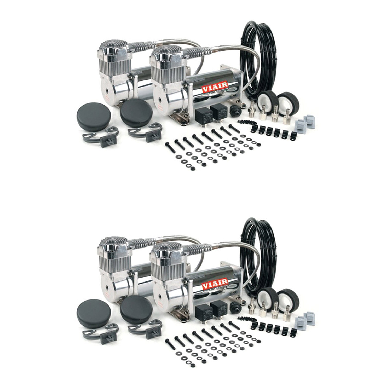 VIAIR Dual 400C 12 Volt 150 PSI Chrome Air Accessories