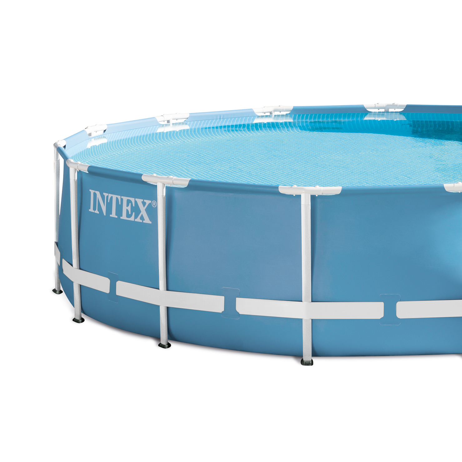 Intex 15 39 x 33 prism frame above ground swimming pool set for Above ground pool set