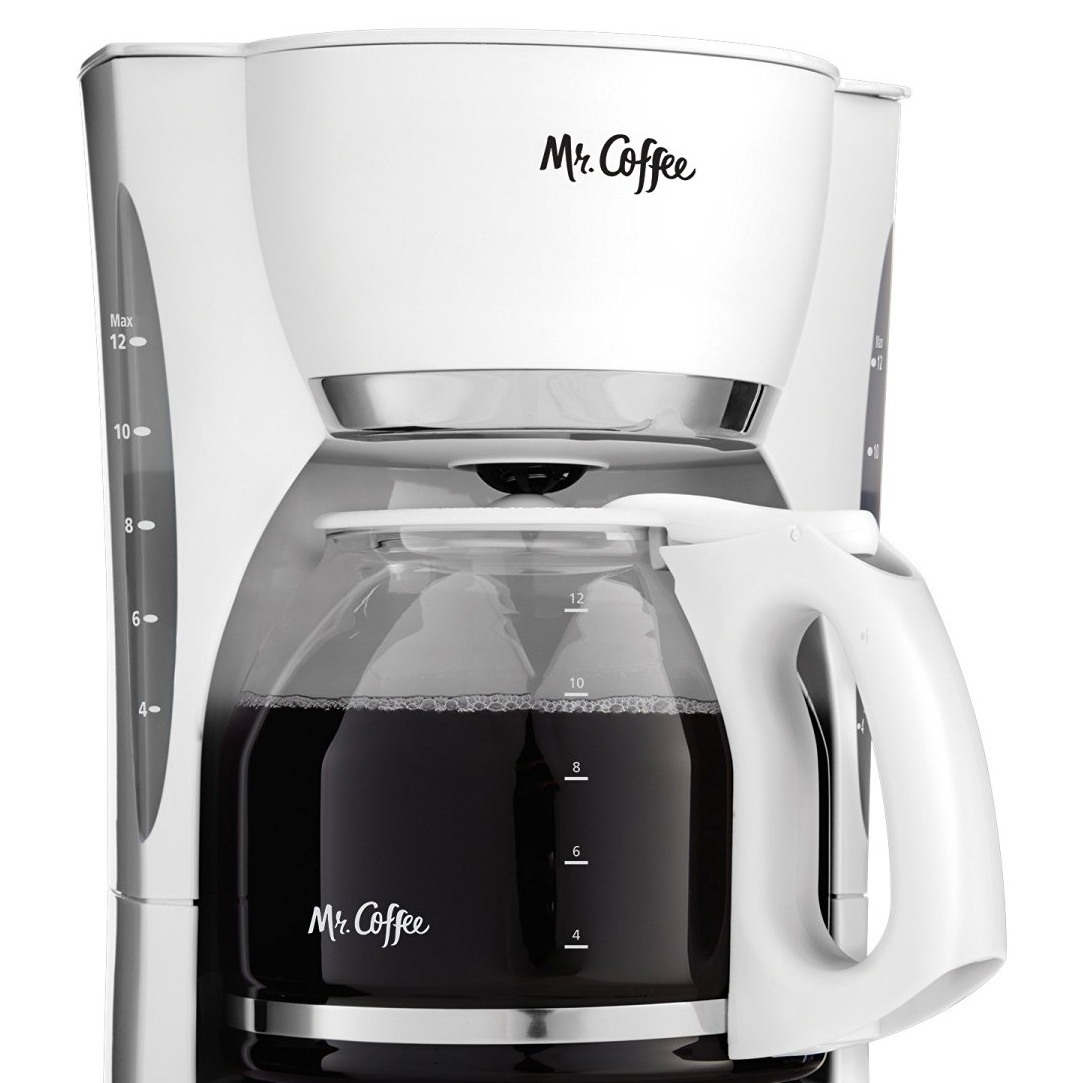 Mr. Coffee CGX20 Digital 12 Cup Programmable Coffeemaker Machine Maker, White eBay
