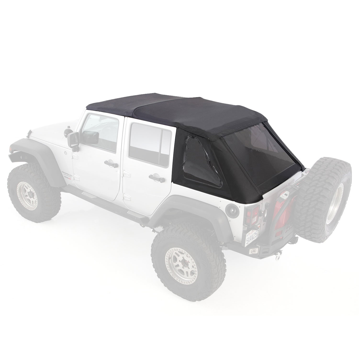 Smittybilt Bowless Combo Soft Top Kit w/ Tinted Windows for 07- 17 ...