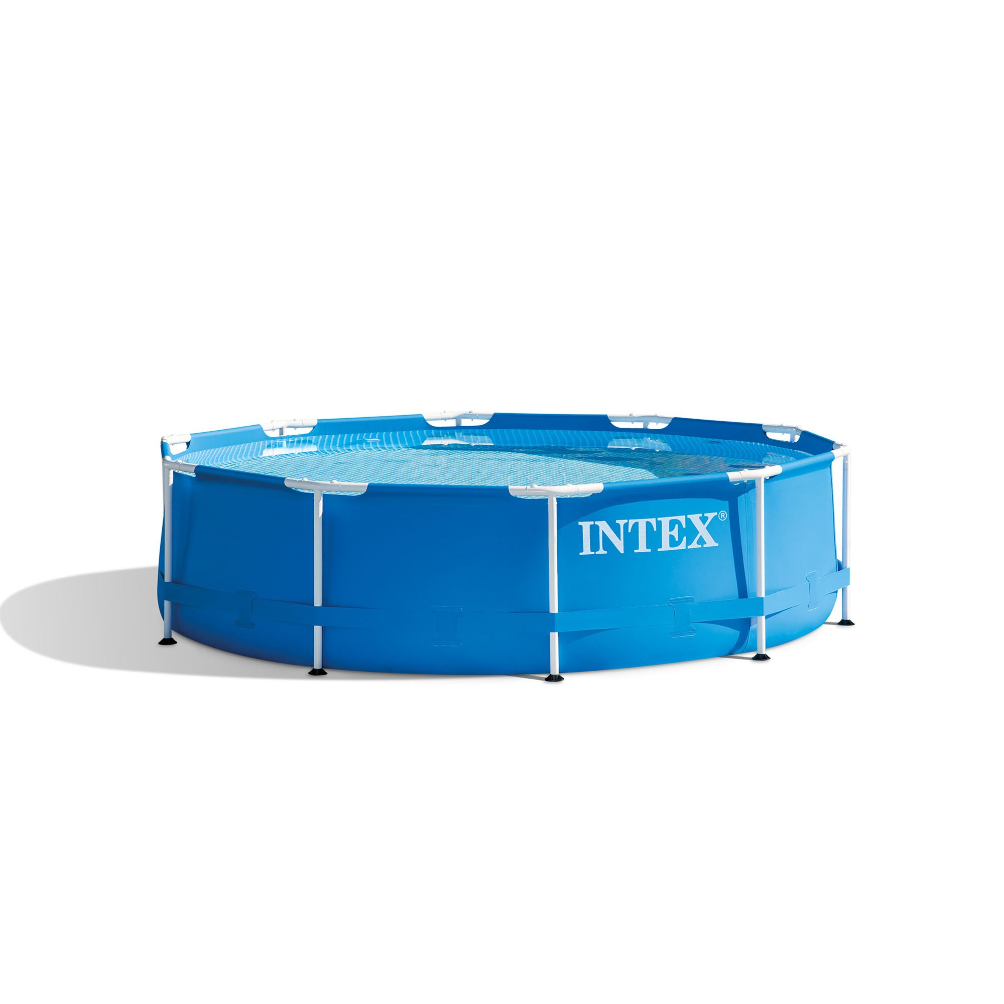 Intex 10 39 x 30 metal frame swimming pool set with filter pump 28201eh ebay - Steel frame pool ...