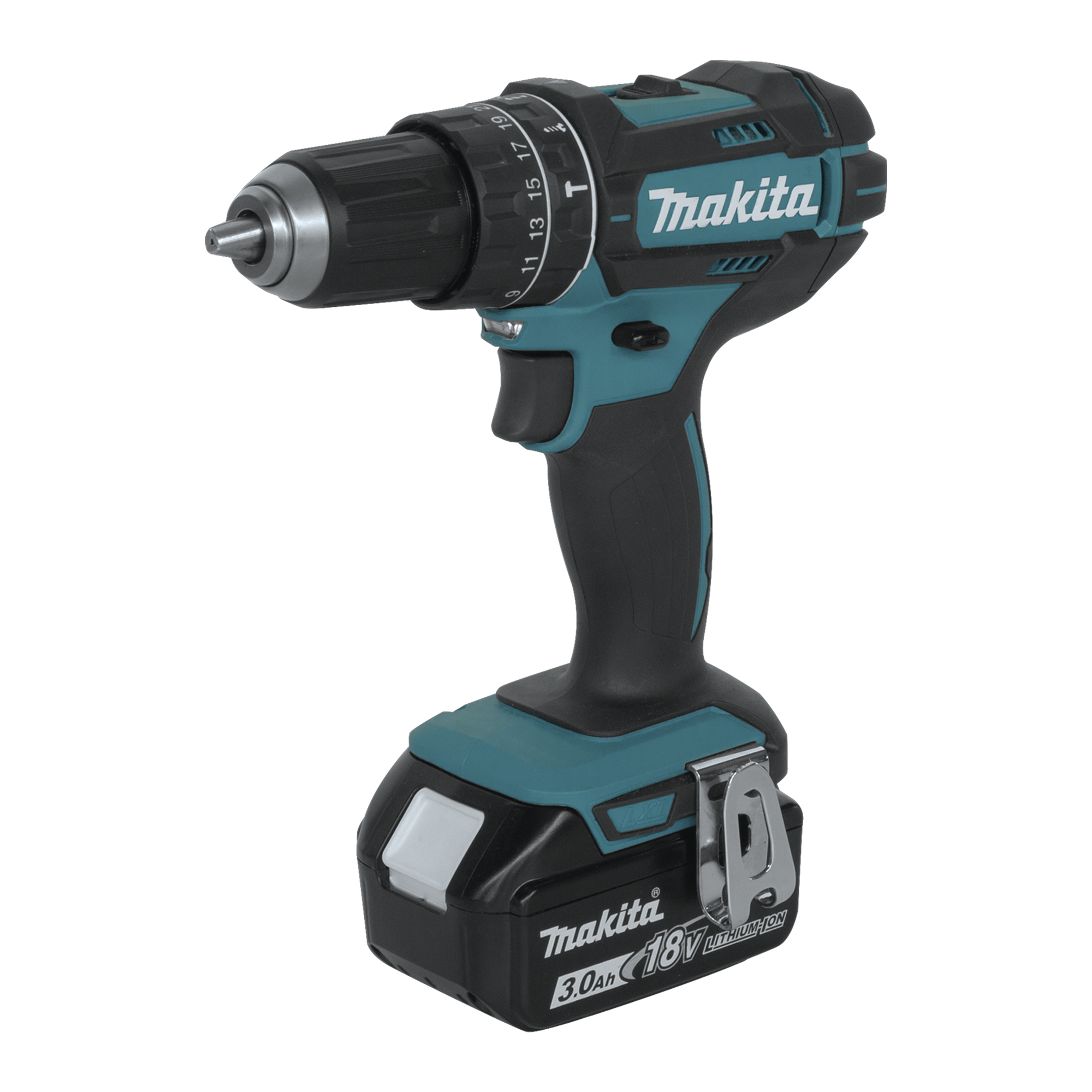 makita 18v 3 0ah lxt lithium ion cordless 0 5 hammer. Black Bedroom Furniture Sets. Home Design Ideas
