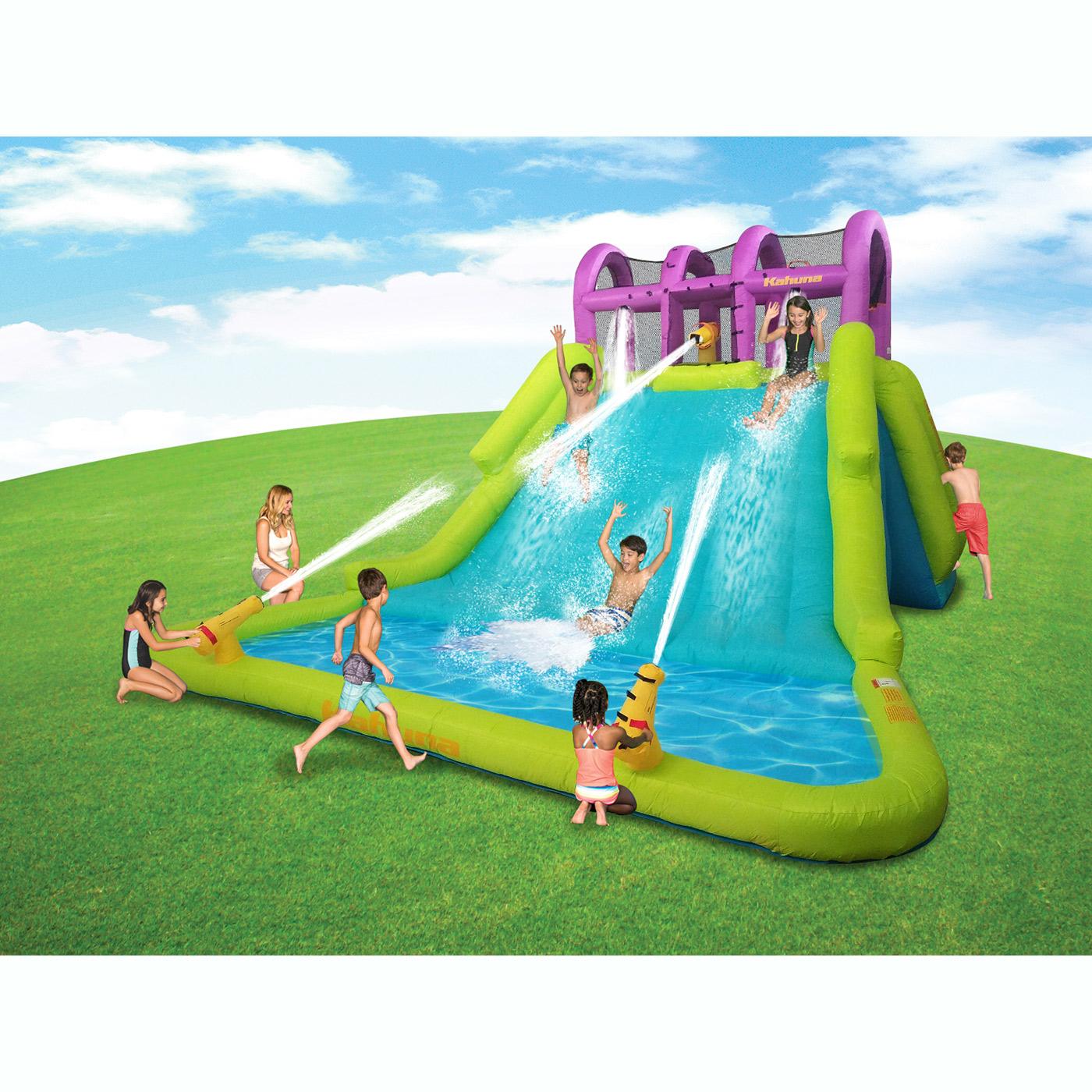 Kahuna Mega Blast Inflatable Backyard Kiddie Pool and ...