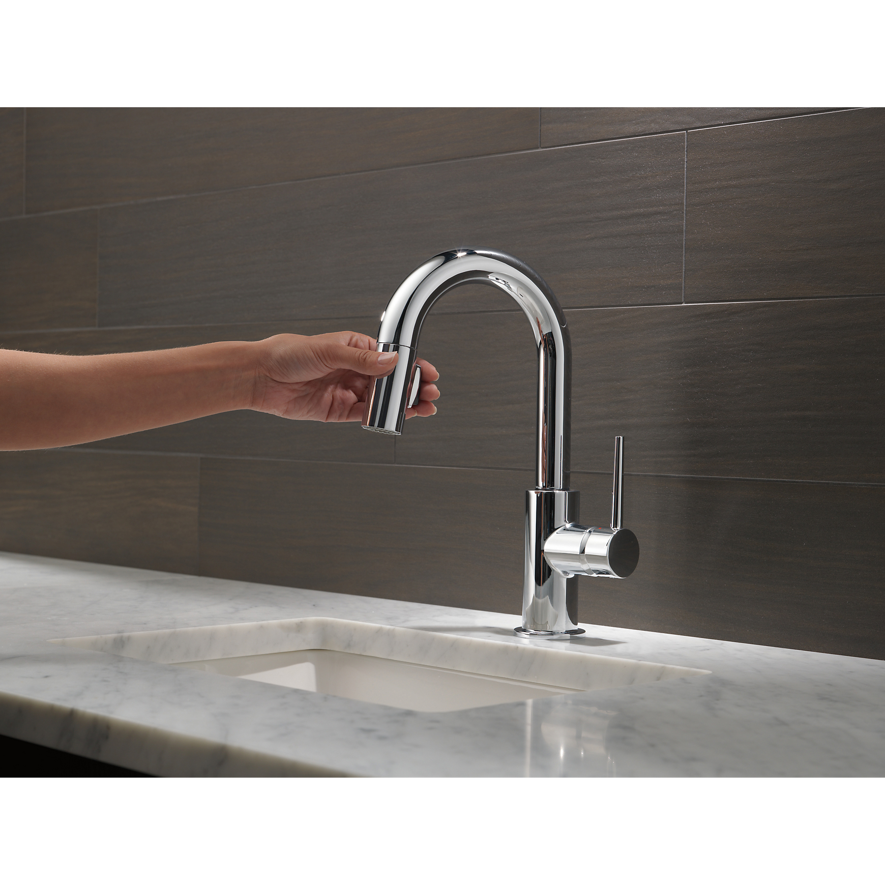 Delta Faucets Single Handle Trinsic Bar Prep Sink Faucet Chrome