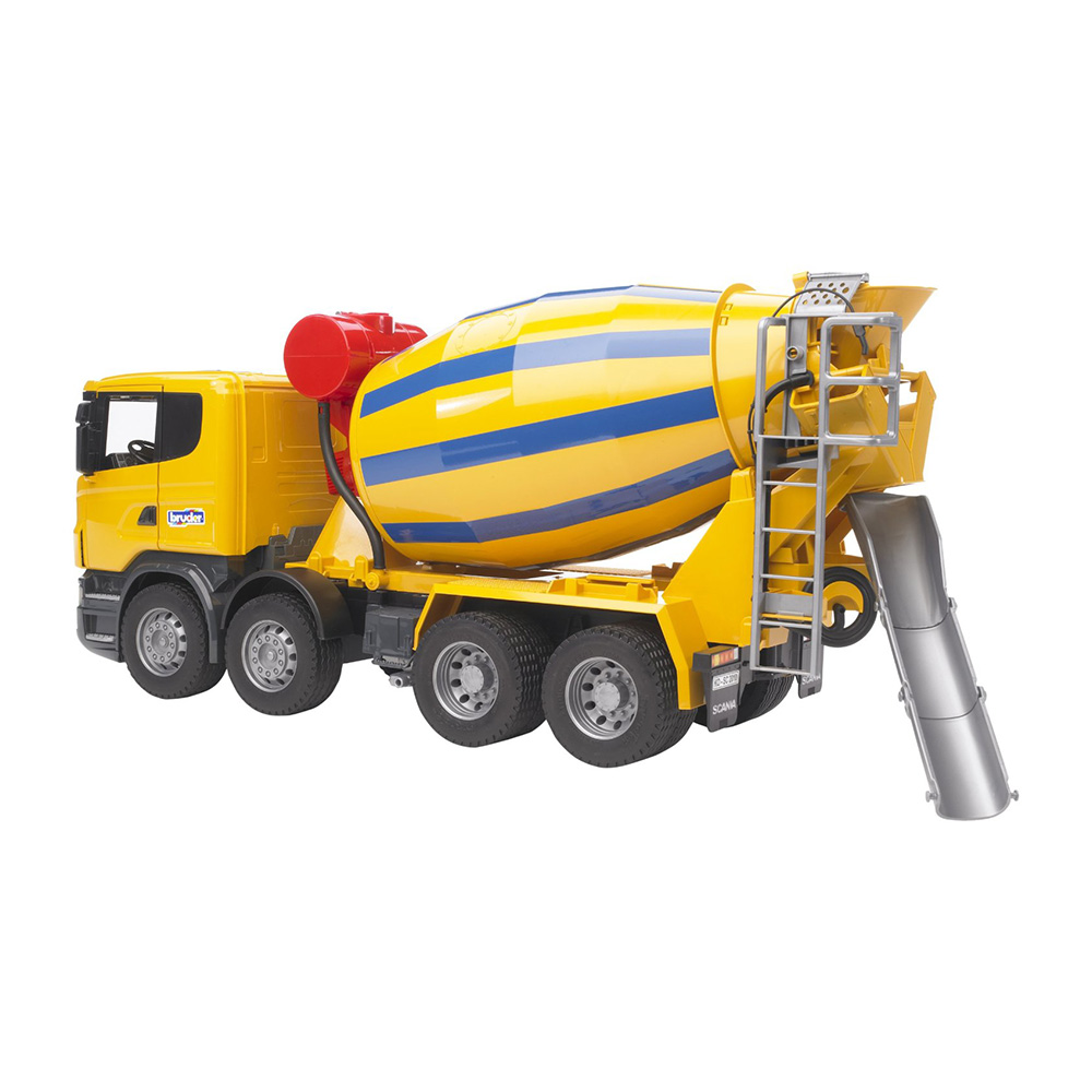 Mixer Truck Toy : Bruder toys scania r series cement mixer truck with