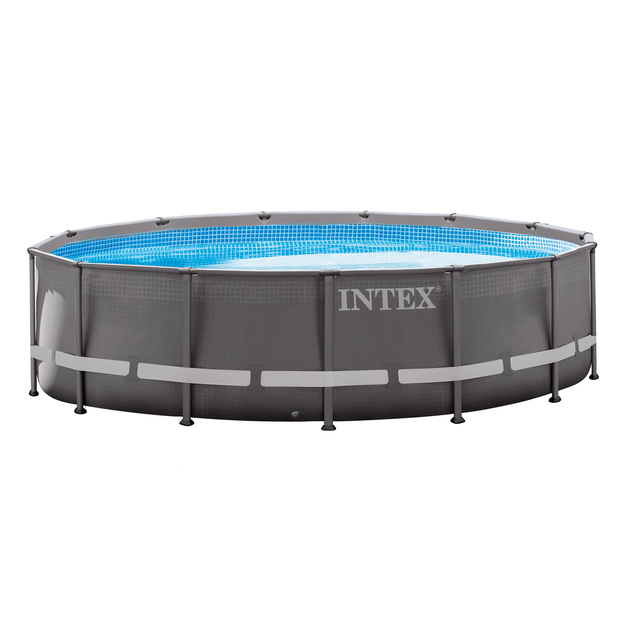 intex 14 39 x 42 above ground ultra frame pool set with. Black Bedroom Furniture Sets. Home Design Ideas