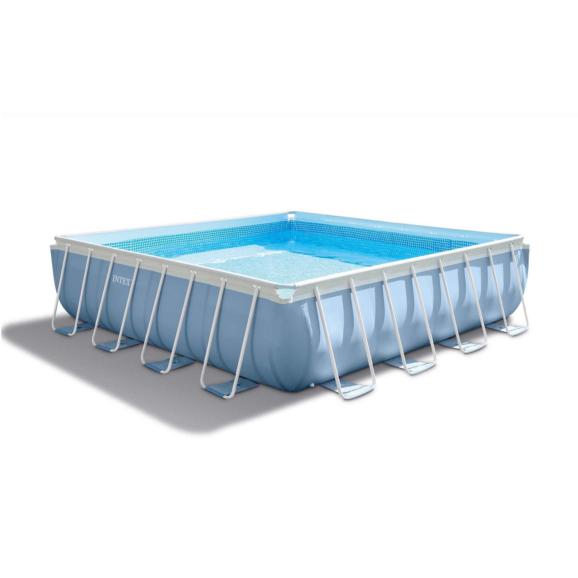 intex 16 39 x 48 prism xl frame square above ground pool set with filter pump ebay. Black Bedroom Furniture Sets. Home Design Ideas