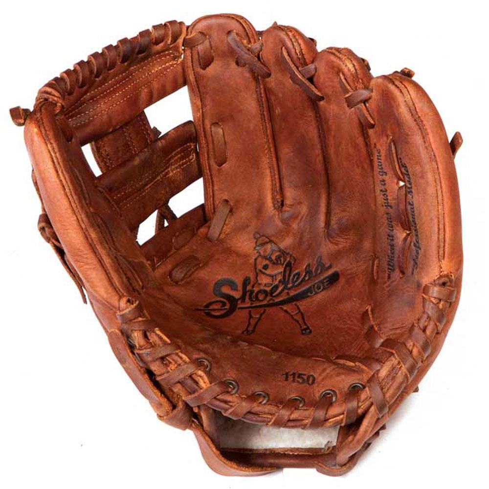 zapatosless Joe lanzador de béisbol para hombre mano derecha 11.5 pulgadas que guante de web, Marrón