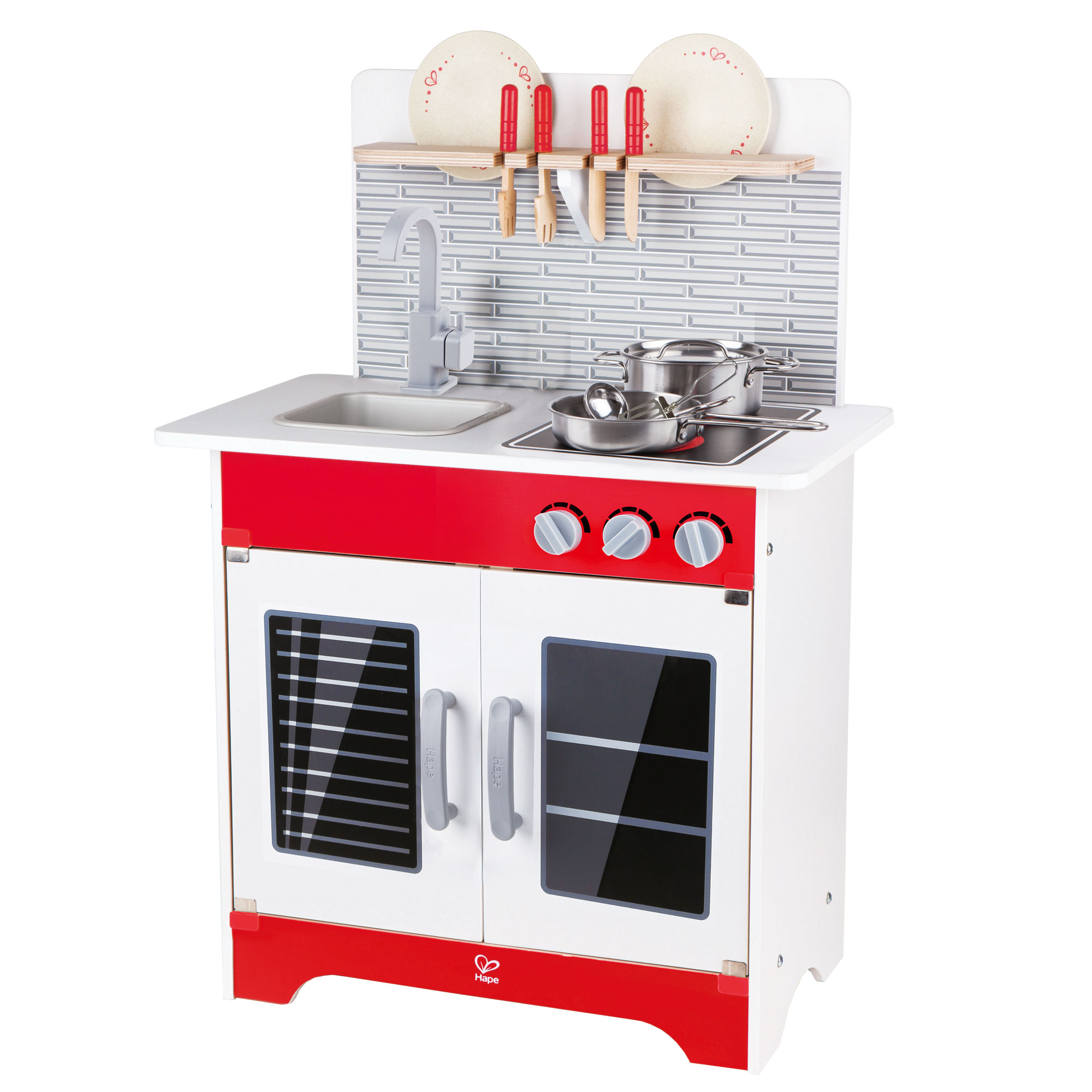 Hape wooden city cafe pretend cooking play kitchen set kids toddler toy playset
