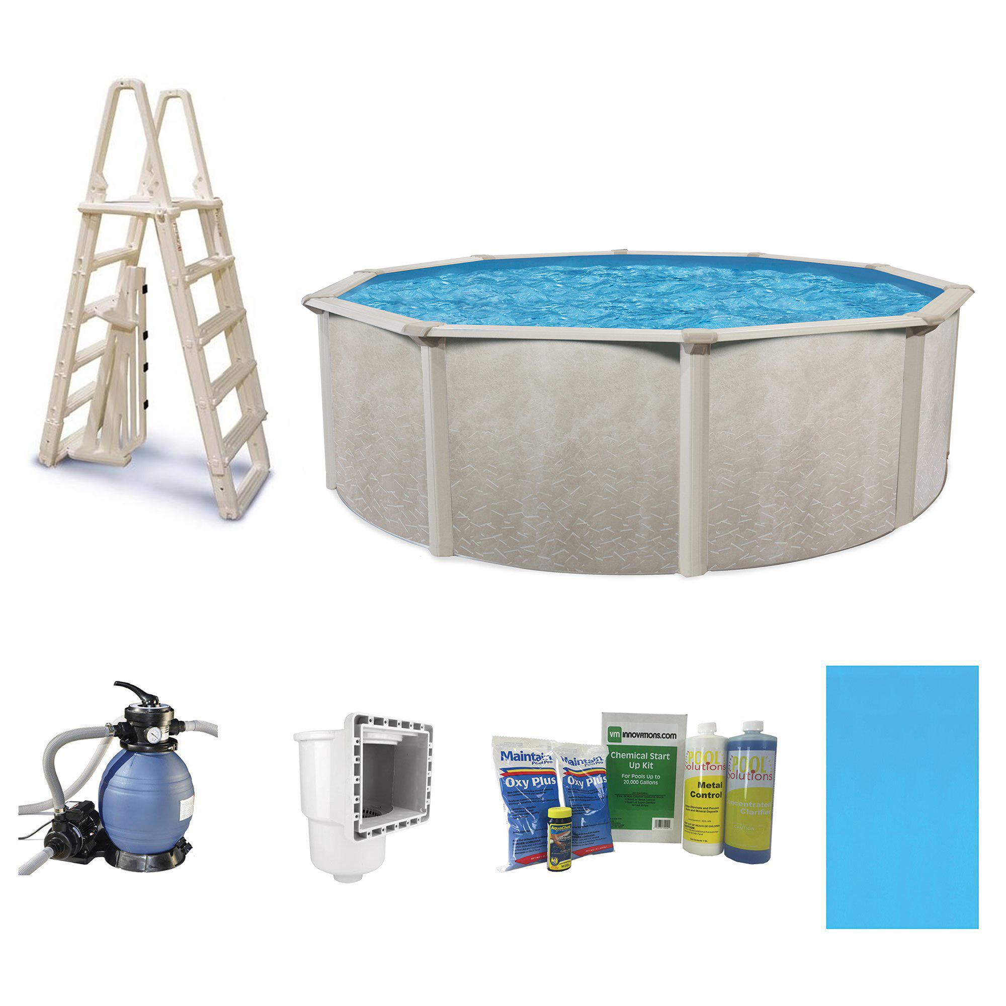 Cornelius pools phoenix 15 39 x 52 frame above ground pool kit with pump ladder ebay for Above ground swimming pool kits