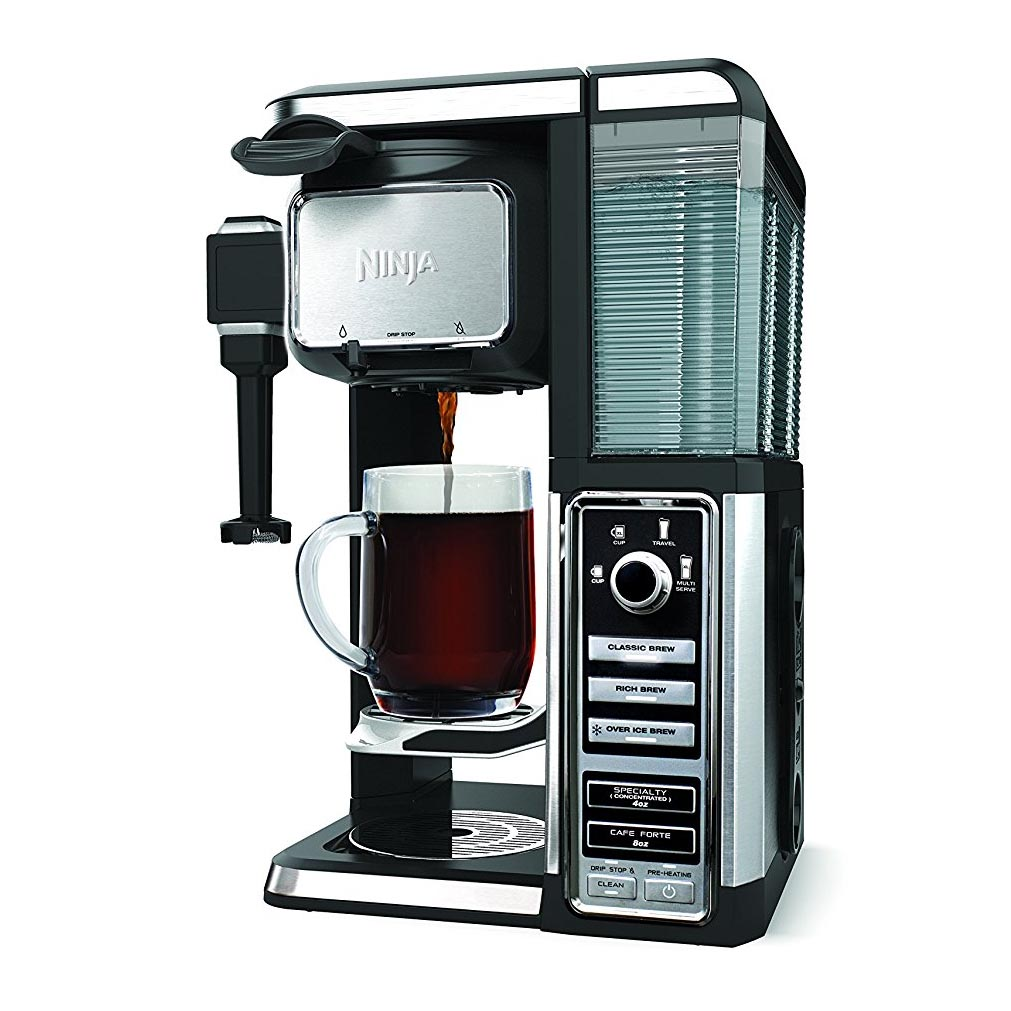 Ninja Single Serve Coffee Bar Machine Pod Free Coffee Maker System with Frother eBay