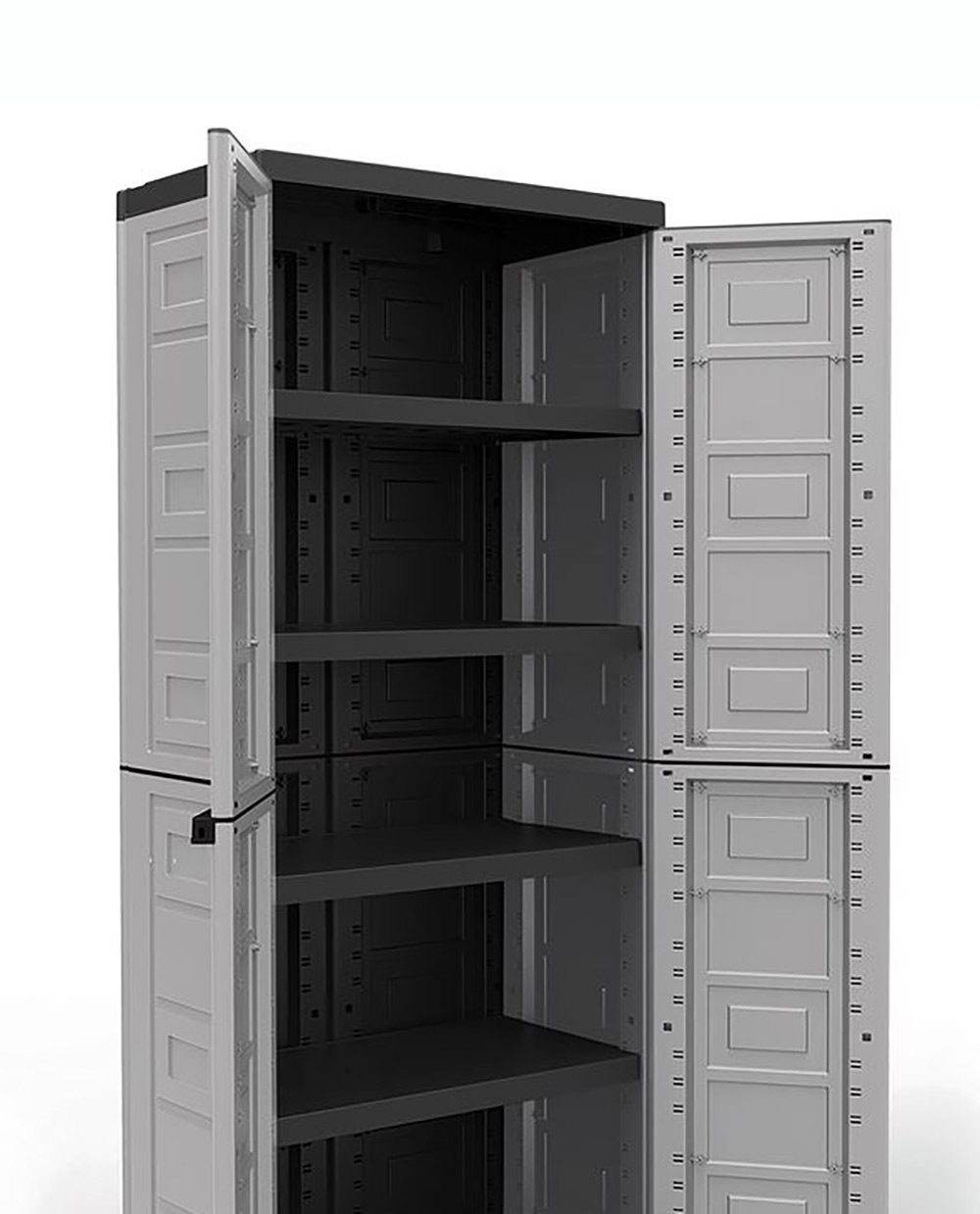 Plastic Kitchen Shelf: Contico 4 Shelf Plastic Garage Storage Organizer Base