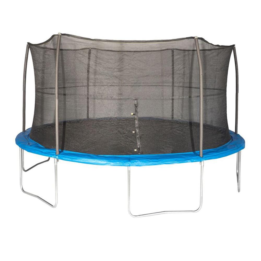 JumpKing 15 Foot Outdoor Trampoline & Safety Net Enclosure