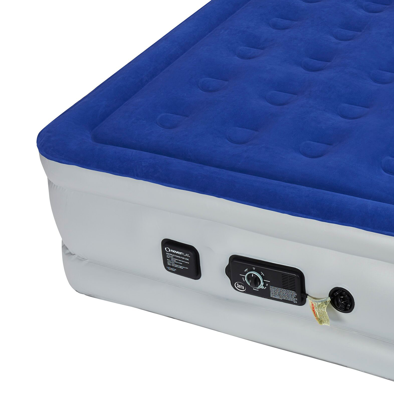 Serta Raised Queen Size Bed Air Mattress With Never Flat
