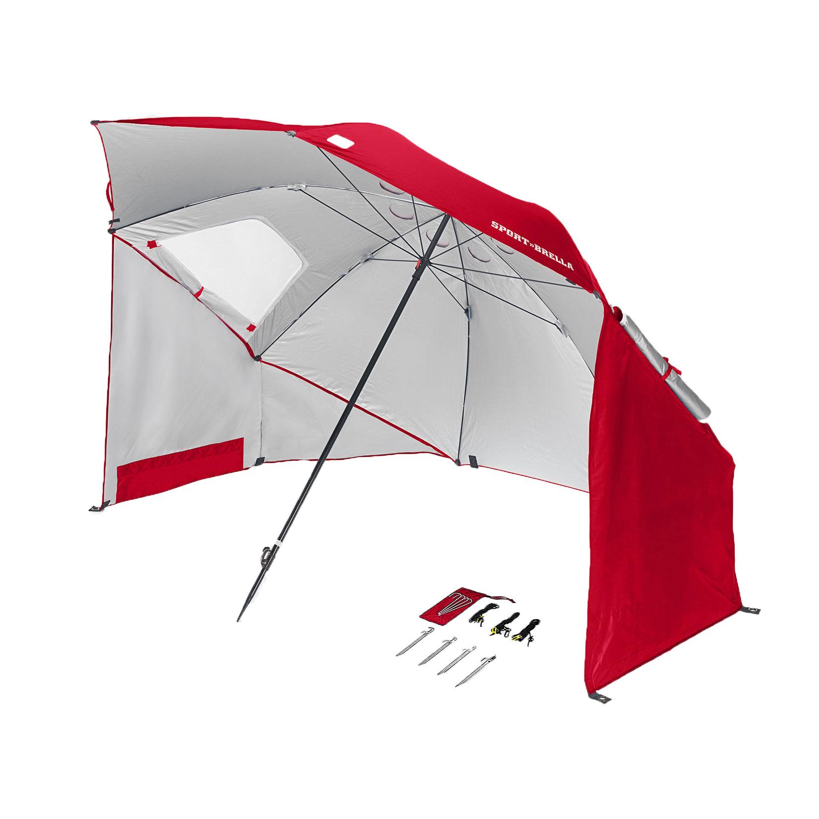 Sport Brella  Foot All Weather Portable Sun Tent Shelter Umbrella Canopy Red