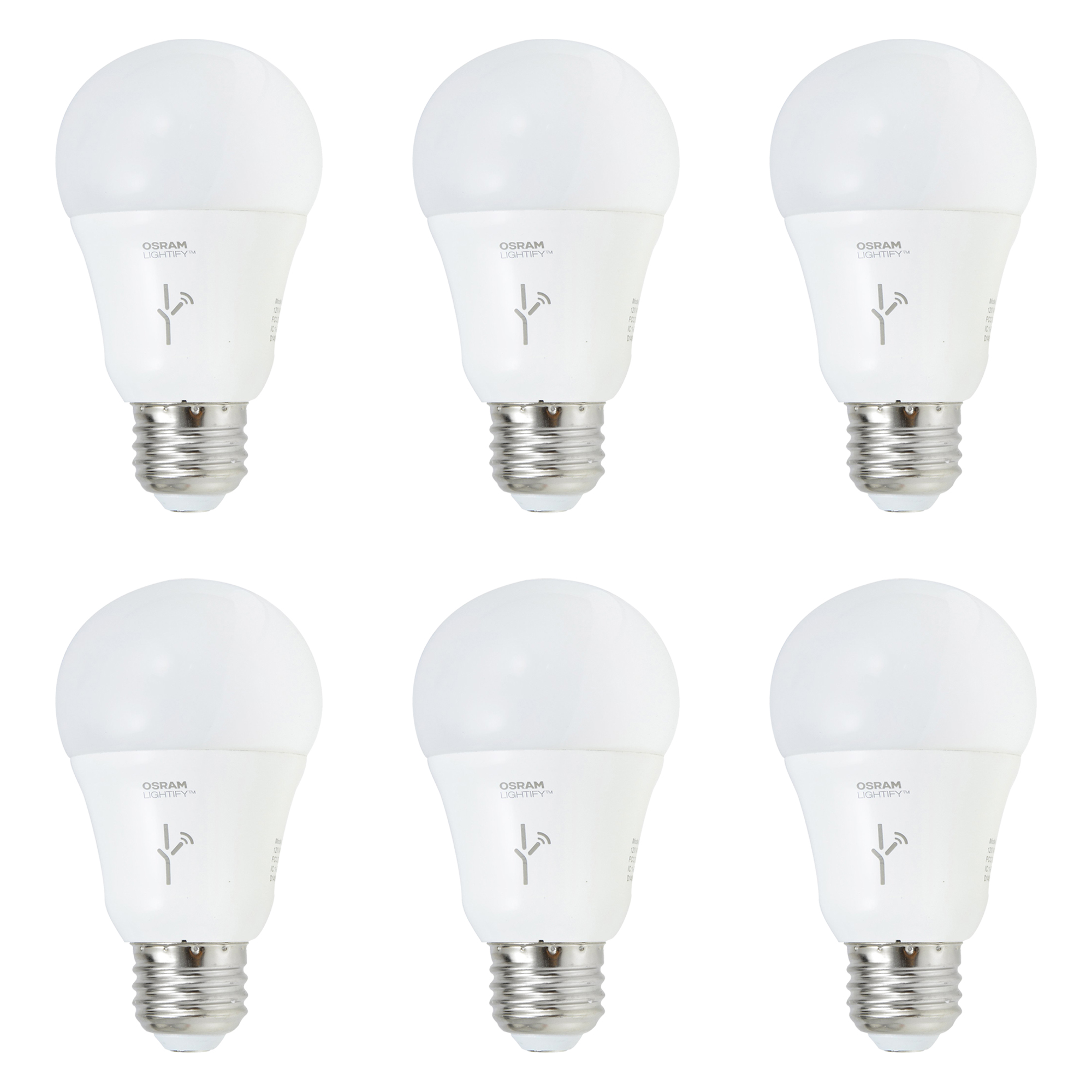 sylvania lightify 60 watt a19 tunable white smart home led light bulb 6 pack 842372116534 ebay. Black Bedroom Furniture Sets. Home Design Ideas
