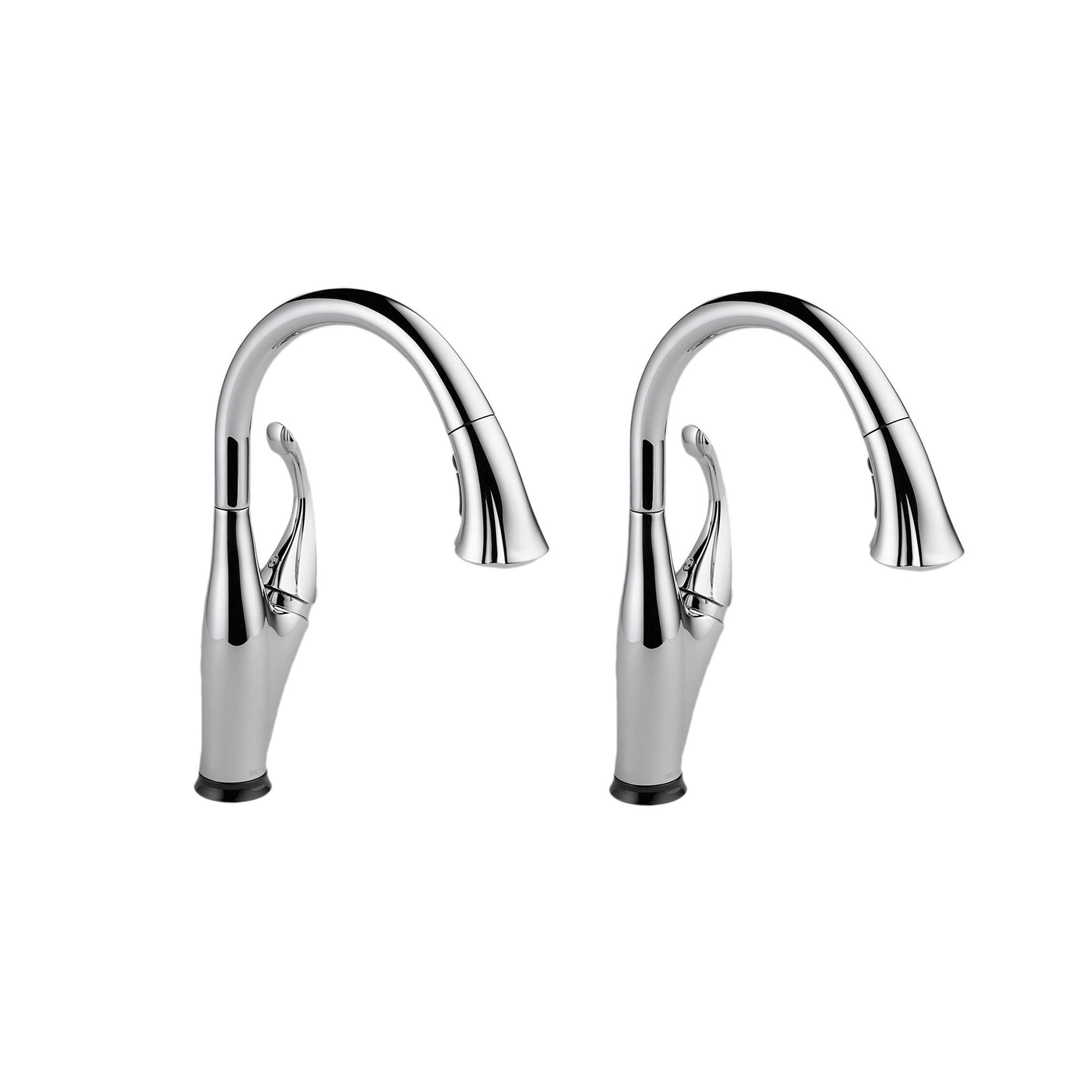 Details about Delta Addison Single Handle Touch-Activated Kitchen Faucet,  Chrome (2 Pack)