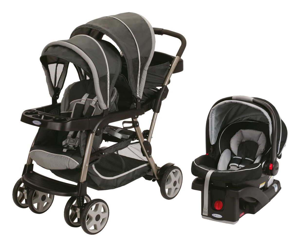 graco ready2grow duo stroller glacier click connect 35 car seat gotham 842372102445. Black Bedroom Furniture Sets. Home Design Ideas