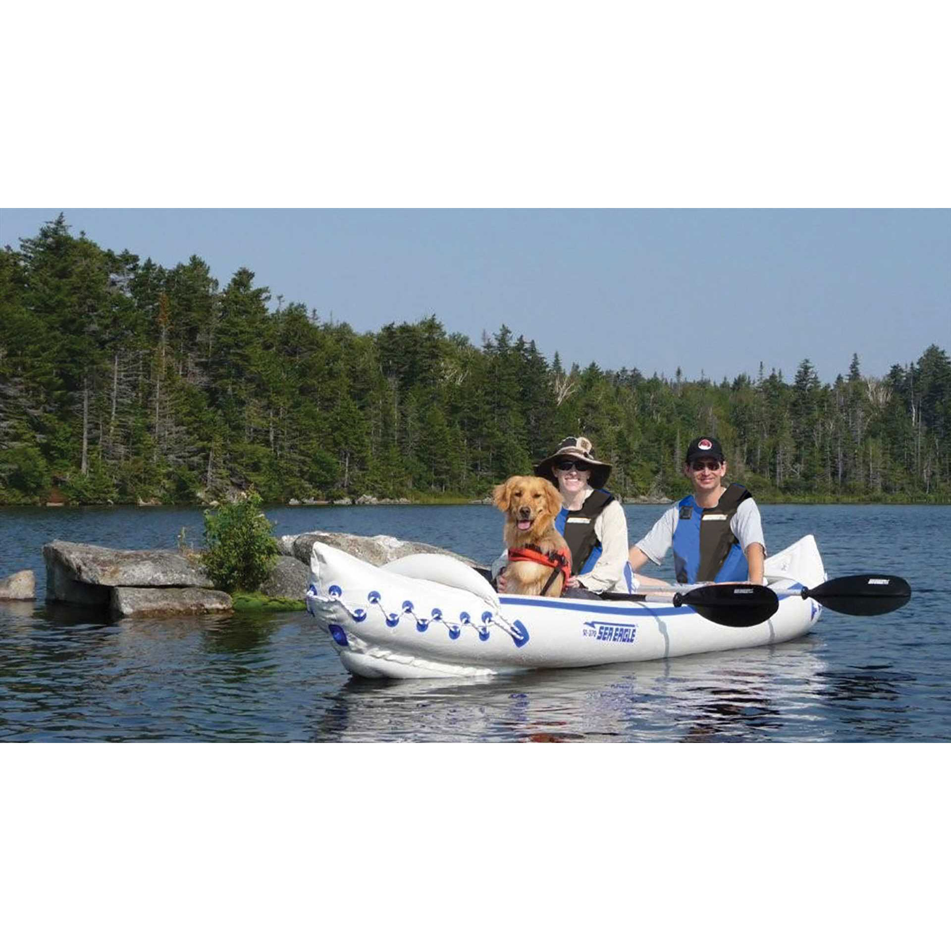 Sea eagle 370 pro 3 person blow up inflatable kayak for 4 person fishing boat