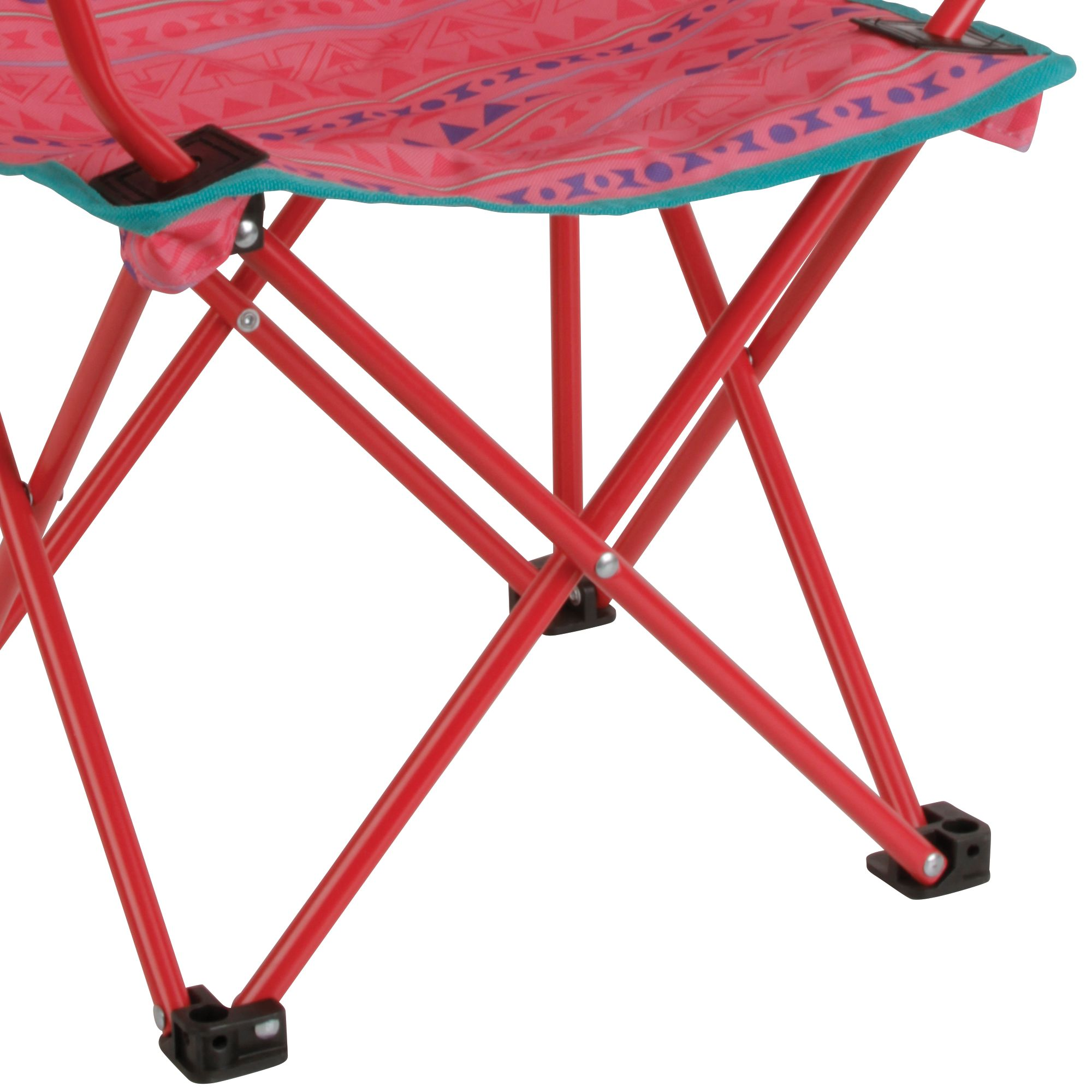 Coleman Kids Camping Glow in the Dark Quad Chair Tribal Pink