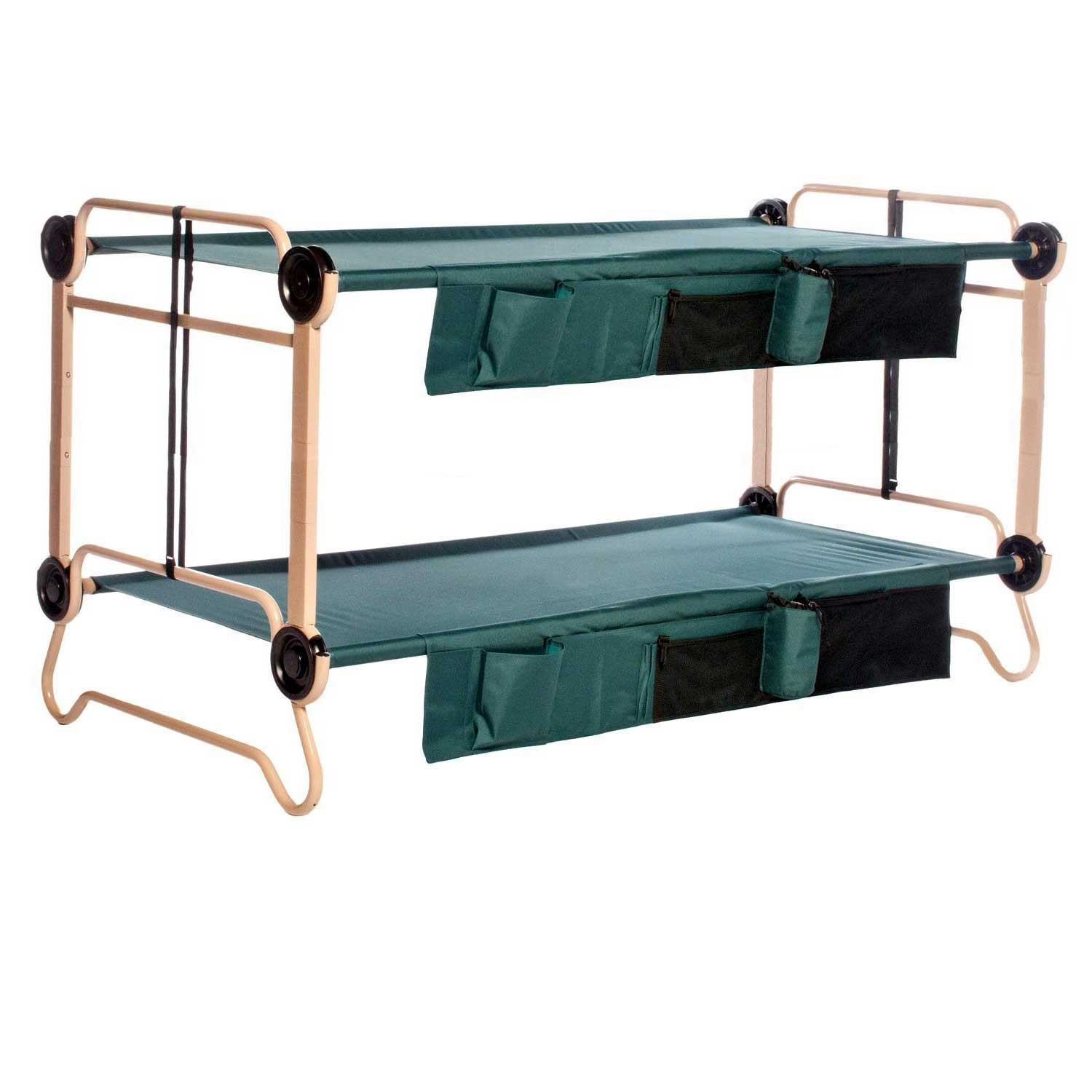 Disc O Bed X Large Cam O Bunk Double Cot With Organizers 7 Inch