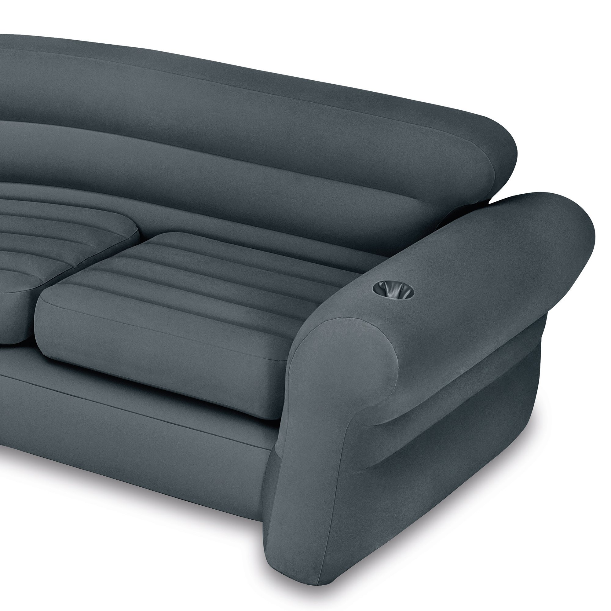 Intex Inflatable Corner Couch Sectional Queen Size Pull