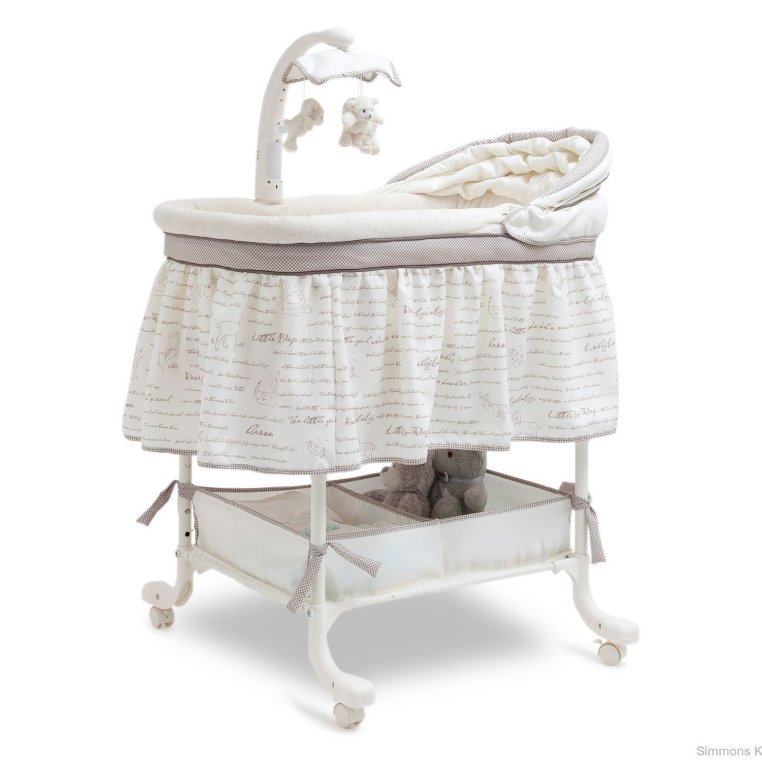 simmons nursery furniture. Simmons Kids Deluxe Slumber Toddler Baby Gliding Nursery Bassinet, Seaside Furniture