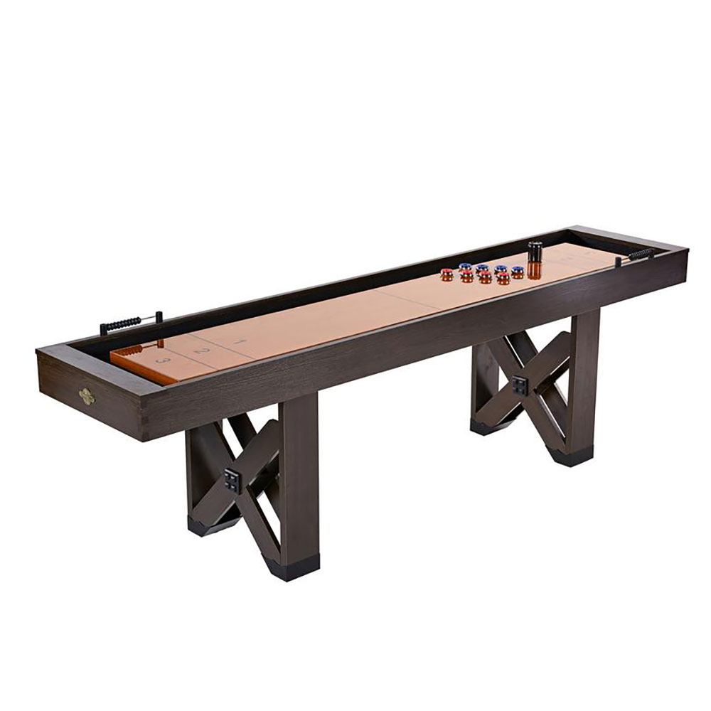 Lancaster 108 In 9 Foot Indoor Home Bar Shuffleboard Game Table W