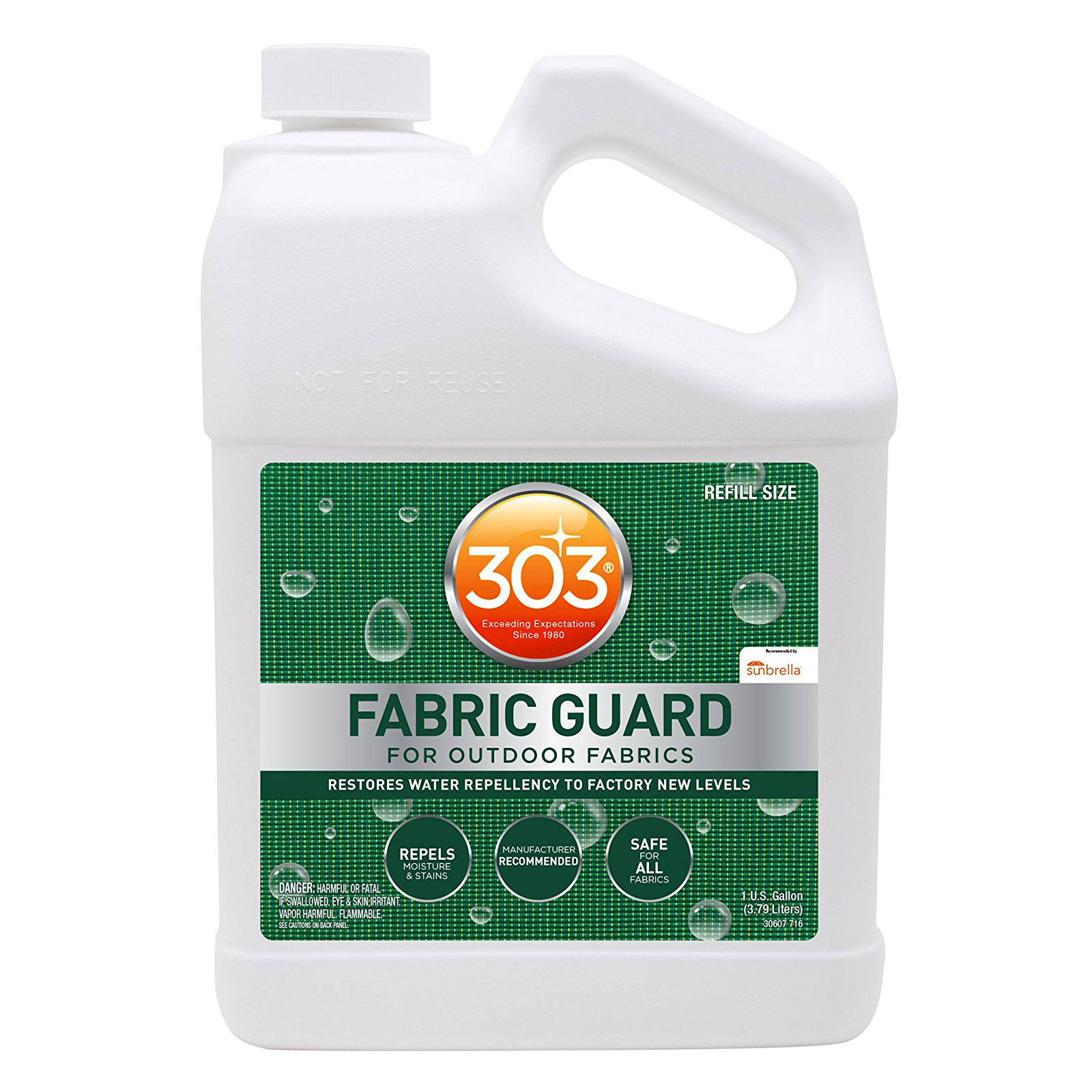 303 fabric guard stain protector and water repellent spray treatment 1 gallon