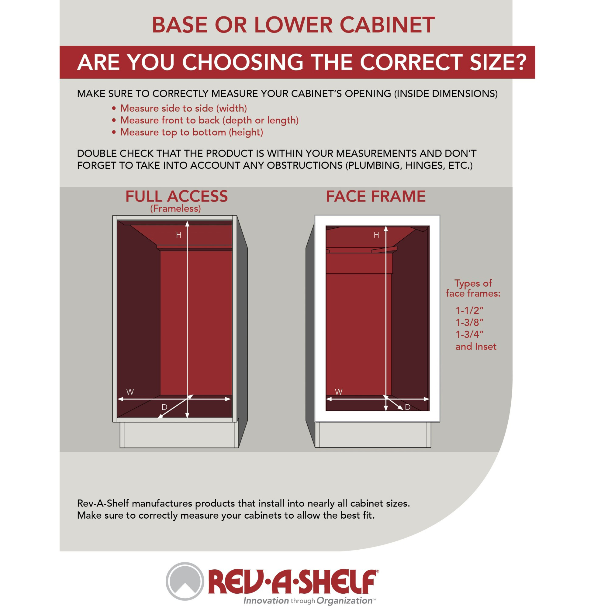 Rev-A-Shelf 447-BCBBSC-5C 5 Inch Pull Out Tray Divider Kitchen Cabinet Organizer