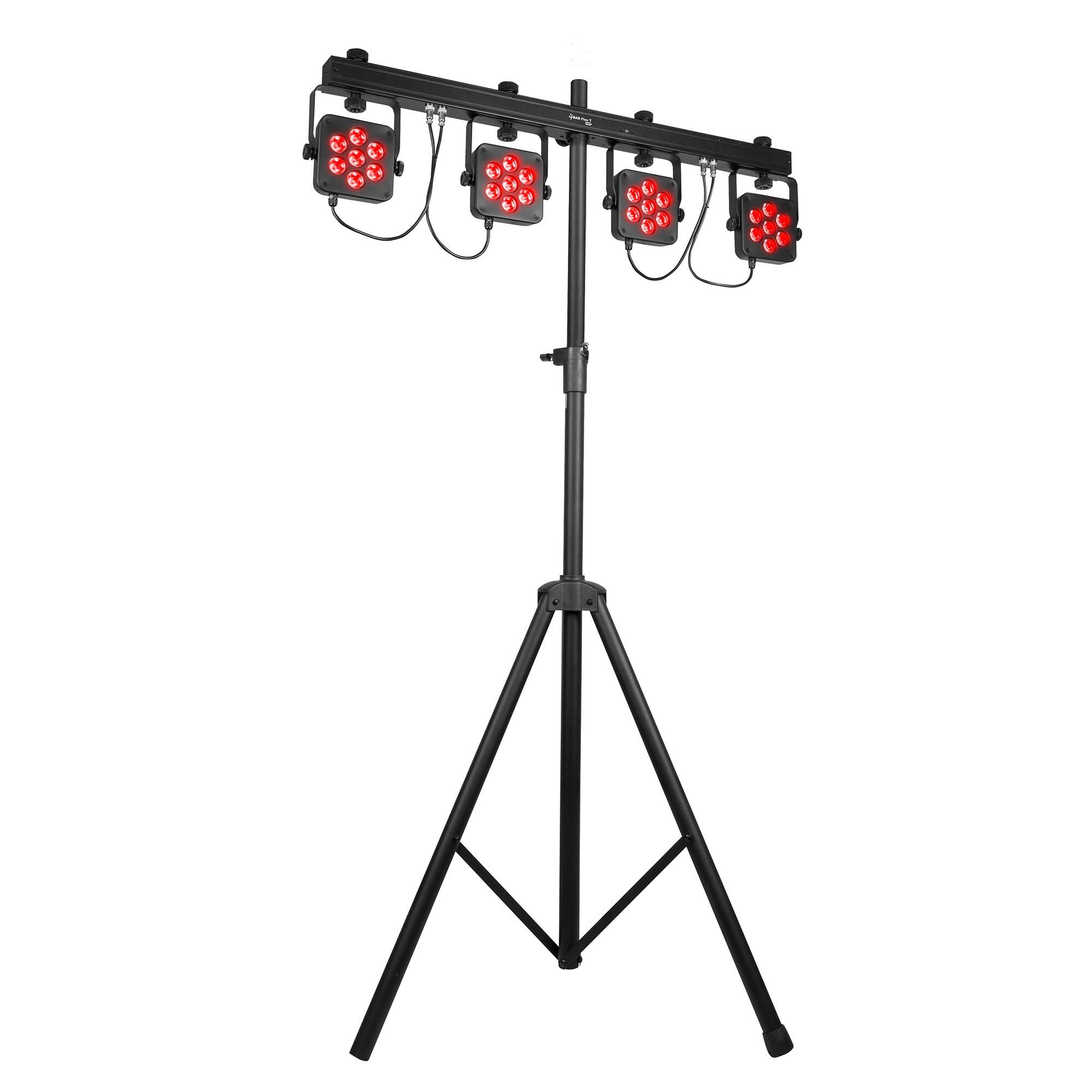 chauvet dj 4bar flex t usb led rgb dmx light effect system w   footswitch  u0026 case 714573528877