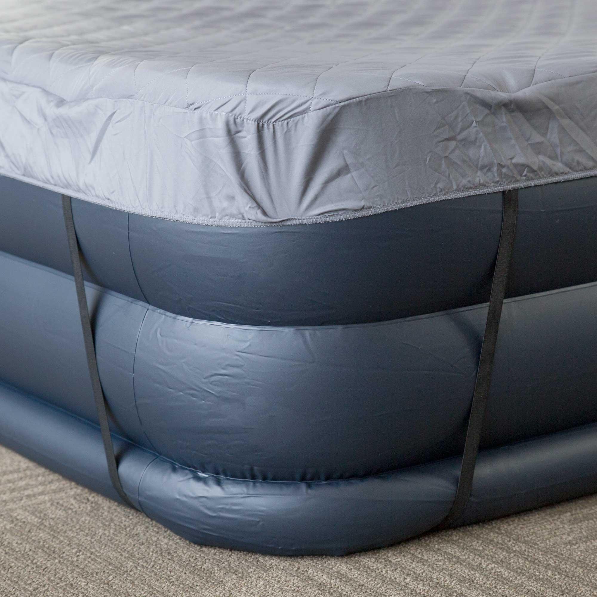Intex Deluxe Queen Raised Pillow Air Mattress With Built