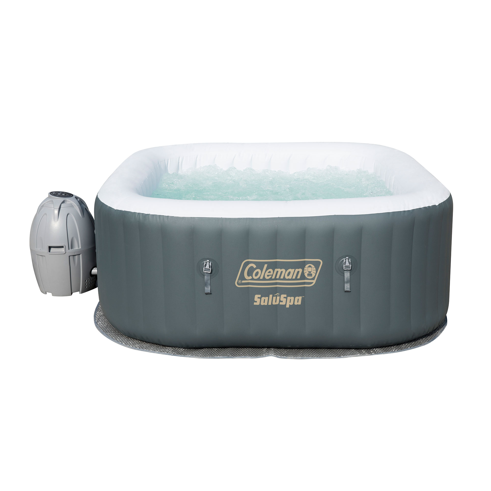 Coleman SaluSpa 4 Person Portable Inflatable Outdoor AirJet Spa Hot ...