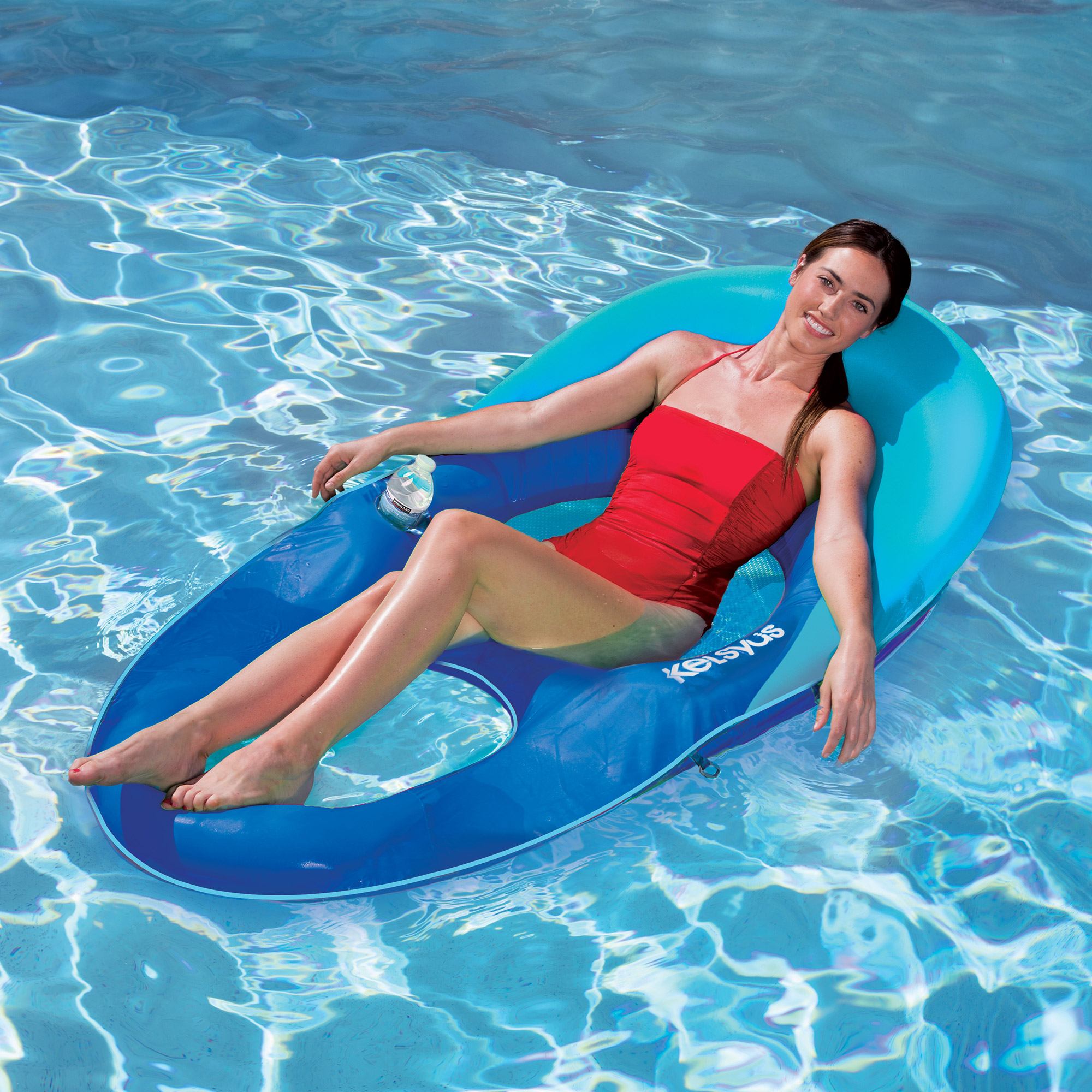 Kelsyus Deluxe Inflatable Mesh Floating Chaise Lounger