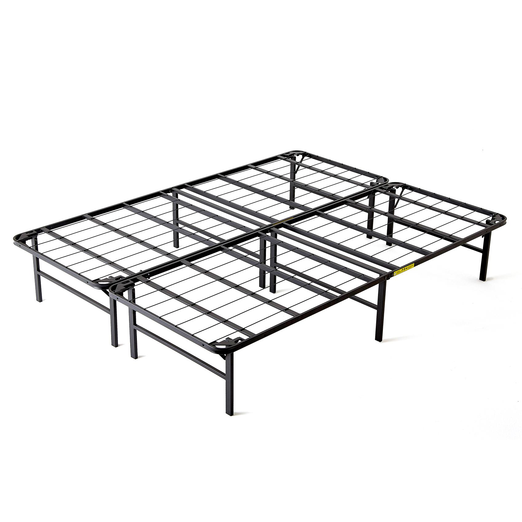 Intellibase lightweight easy set up bi fold platform metal for King metal bed frame