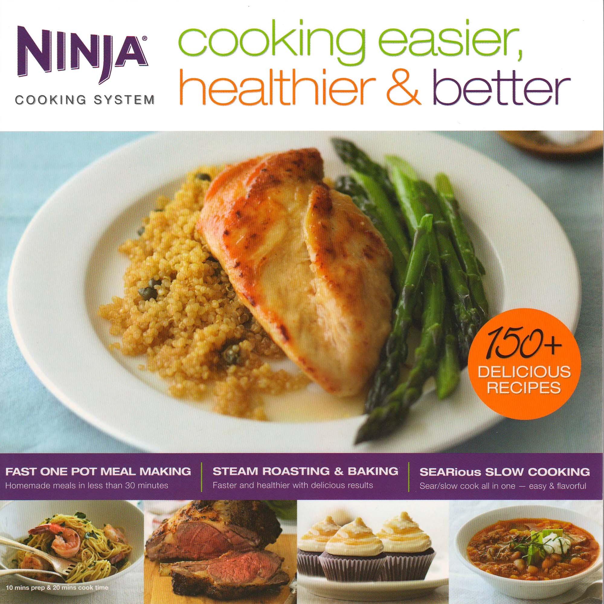 Ninja cooking easier healthier better cooking system 150 recipe ninja cooking easier healthier better cooking system 150 recipe book cb700 forumfinder Choice Image