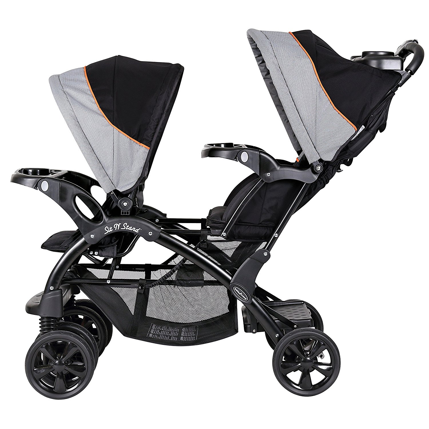 Baby Trend Double Sit N Stand Toddler and Baby Stroller, Millennium